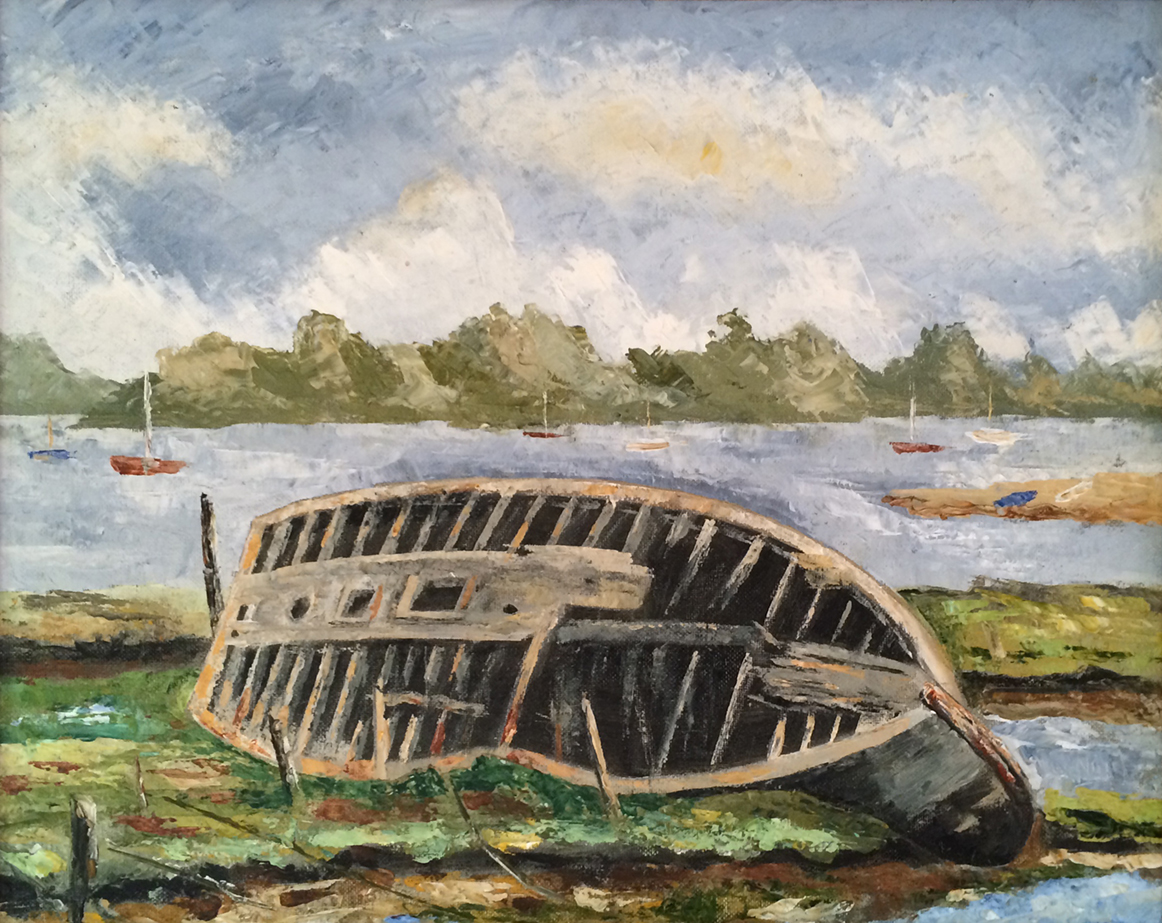Boat at Felixstow by Leslie Nind