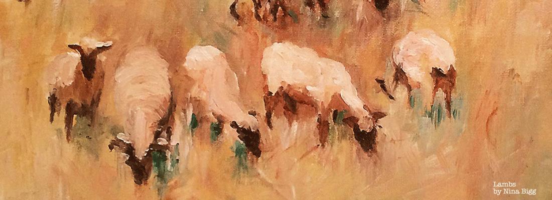 Lambs by Nina Bigg