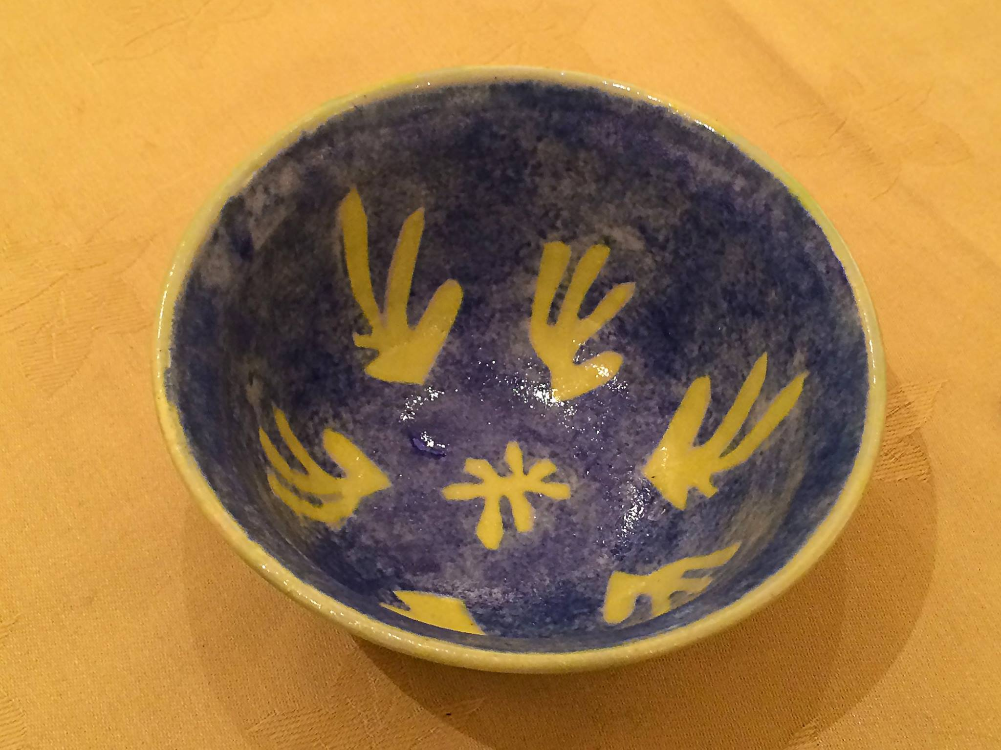 Decorated bowl By Tessa Buckley