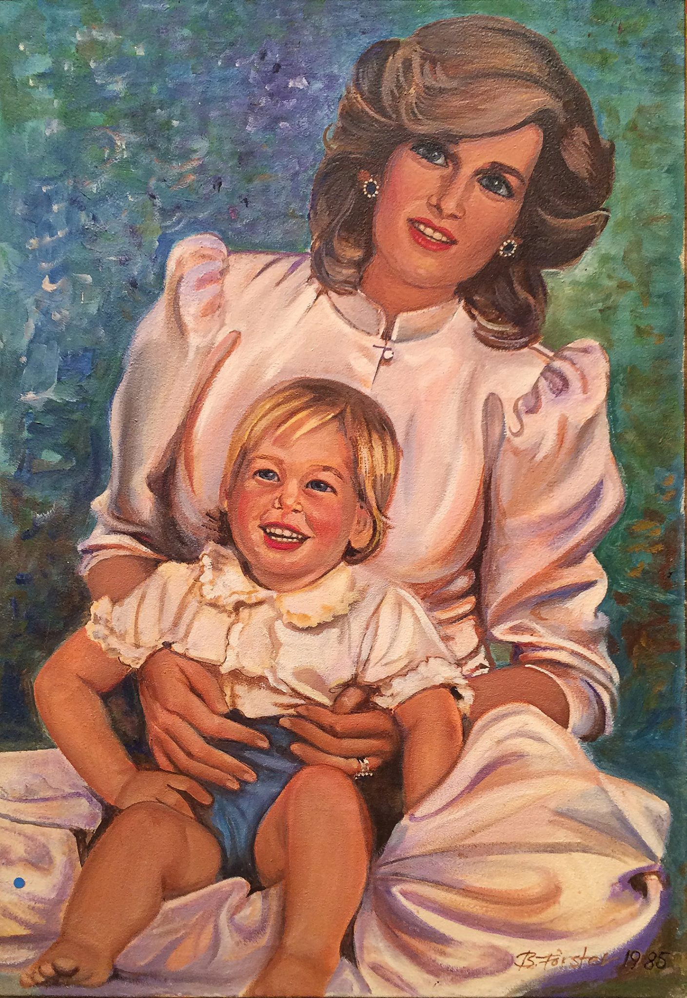 Princess Diana and baby William By Barbara Forster
