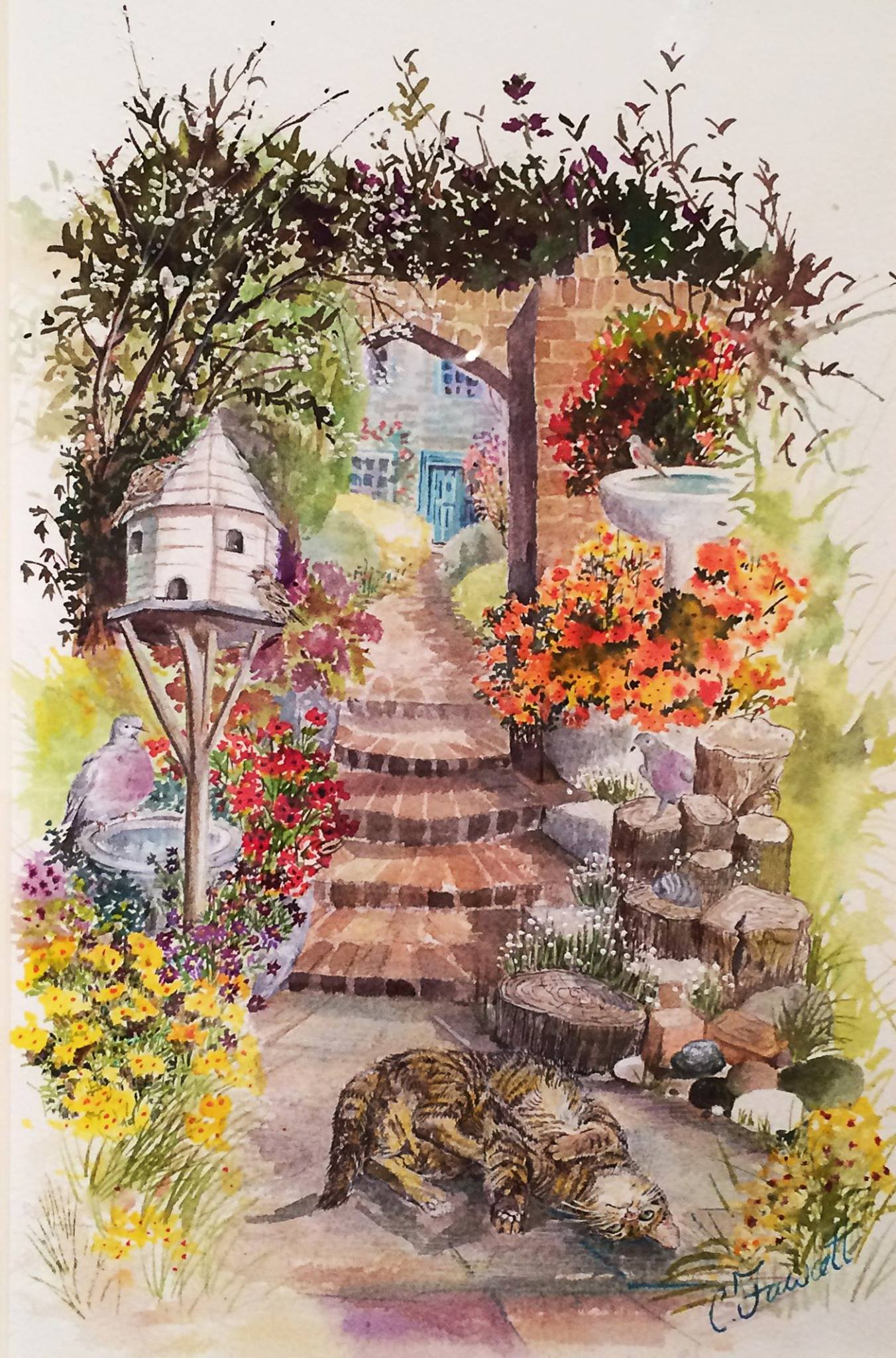 Bird Garden by Christine Hale (nee Fawcett)