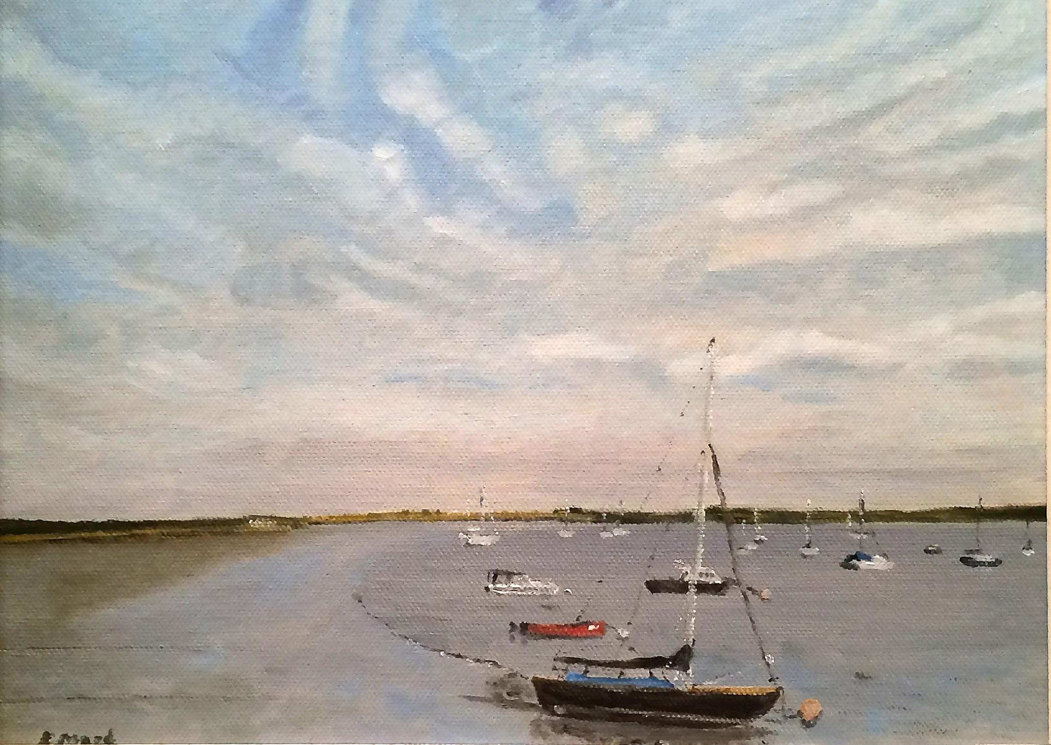 Ramsholt Quay, by Karen Mead