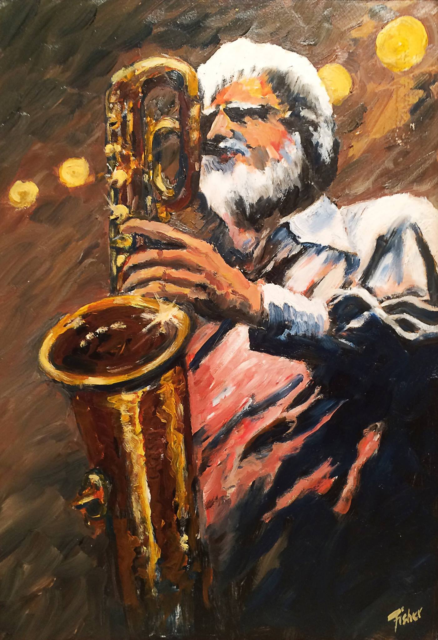 Gerry Mulligan by Reg Fisher