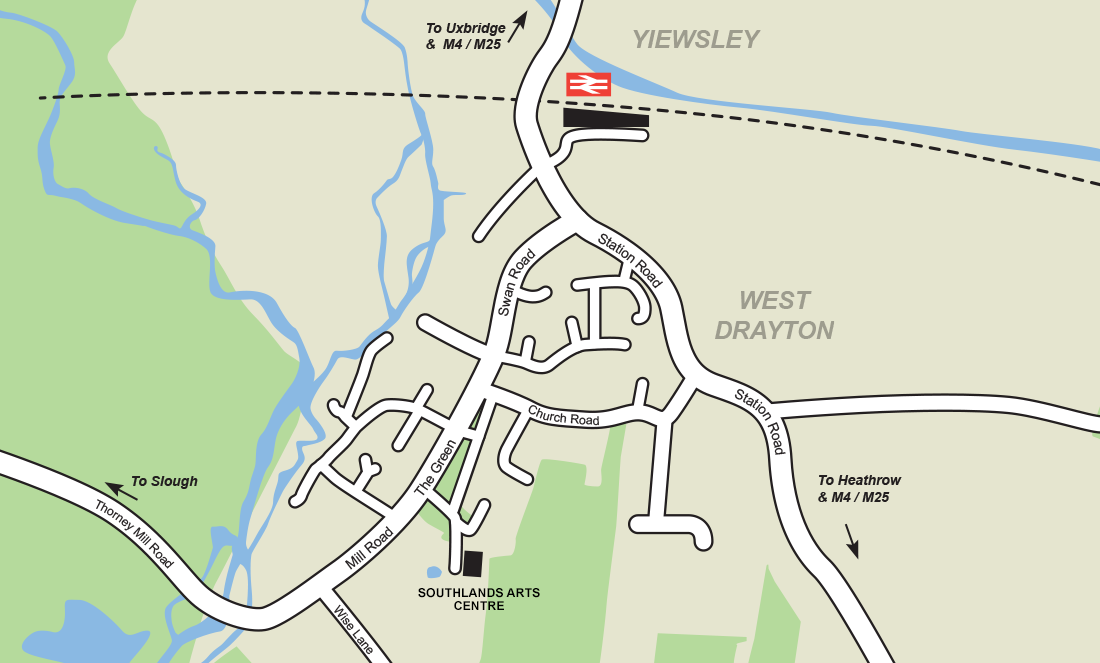 Map of Southlands Arts Centre