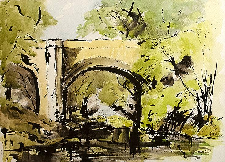 The bridge, by Nina Bigg.