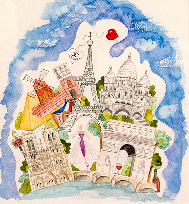 Paris in the spring, by Maureen Collier.